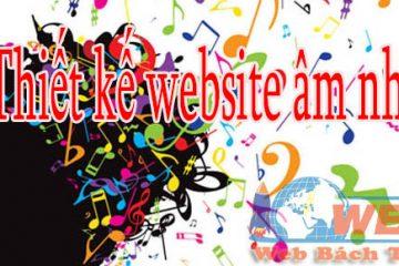 Thiết kế website âm nhạc giá rẻ BT TV