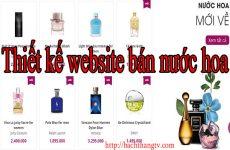 Thiết kế website bán nước hoa giá rẻ BT TV