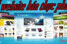 Thiết kế website bán thực phẩm sạch giá rẻ BT TV