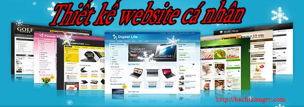 Thiết kế website cá nhân giá rẻ BT TV
