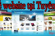 Thiết kế website tại Tuyên Quang giá rẻ BT TV