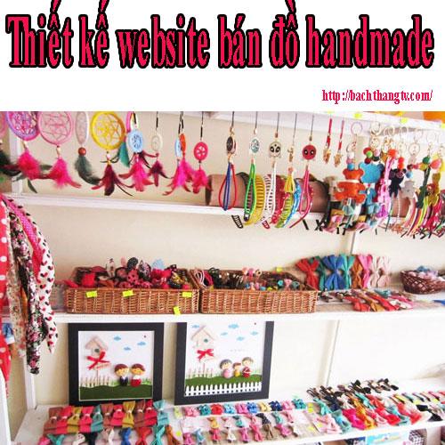 Thiết kế website bán đồ handmade chuyên nghiệp BTTV