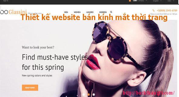 Thiết kế website bán kính mắt thời trang BTTV