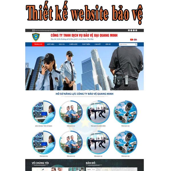 Thiết kế website bảo vệ chuyên nghiệp tại BTTV
