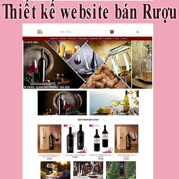 Thiết kế website bán Rượu chất lượng BTTV