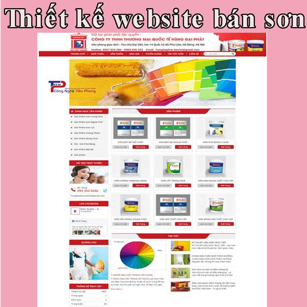 Thiết kế website bán sơn giá rẻ BTTV