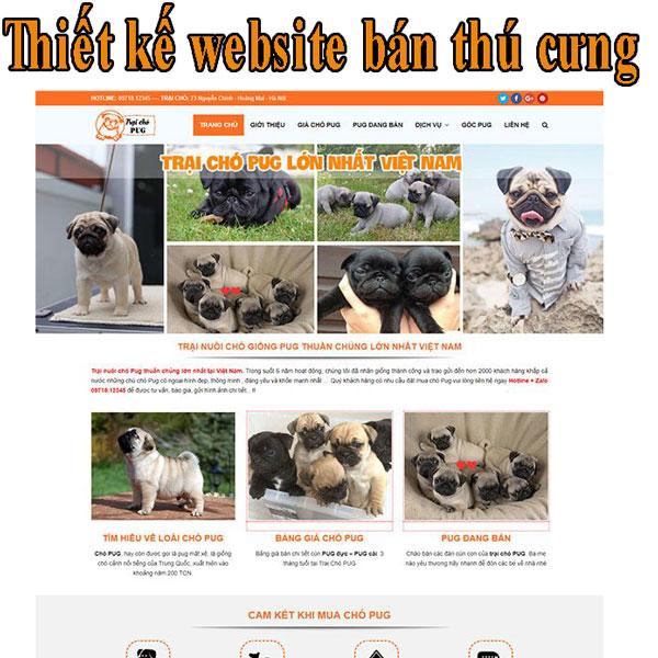 Thiết kế website bán thú cưng giá rẻ BTTV